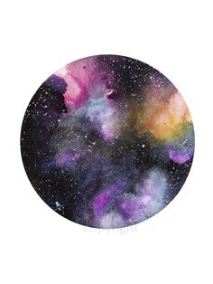 Starry Skies in Purple- Galaxy Illustration Watercolor Painting Print - Home decor and wall art by KelseyMDesigns on Etsy https://www.etsy.com/listing/494673532/starry-skies-in-purple-galaxy