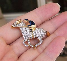 Horse and Jockey Brooch for the Kentucky Derby!