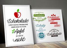 """Digitale Downloads - Plotterdatei Sprüche """"Schokolade"""" - ein Designerstück von kleinegoehr-e bei DaWanda"""