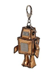 Robot Coated Canvas Bag Charm