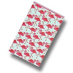 """Custom & Luxurious {40"""" x 72"""" Inch} 1 Single Jumbo & Thick Soft Summer Beach & Bath Towels Made of Quick-Dry Cotton w/ Cute Bright Posing Flamingo Repeats [Multicolored]"""