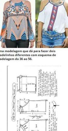 5d78fa2c0bd moldes de blusas cruzada na frente com manga de babado - Pesquisa Google