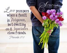 Do Women Ever Buy Flowers for Men? Proverbs 17 9, Book Of Proverbs, I Forgive You, How To Apologize, Memory Verse, Saying Sorry, Speak Life, Bible Verses Quotes, Scriptures