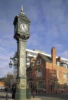 Clock in the famous Jewellery Quarter