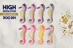 FREE Seahorse Graphics Pack By TheHungryJPEG