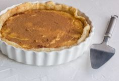 Milk tart sprinkled with cinnamon spice close up on rustic white textured background - Sweet pie crust filled with creamy custard Oven Chicken Recipes, Dutch Oven Recipes, Tart Recipes, Dessert Recipes, Greek Recipes, Curry Recipes, Rose Bakery, Salted Caramel Fudge, Salted Caramels