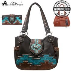 Montana West Aztec Collection Concealed Handgun Handbag & Wallet Set – Handbag Addict.com