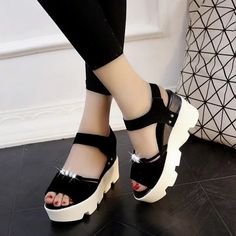 5d8fff64d386c Buy Ornabliss Black Suade Platform Sandals For Women online