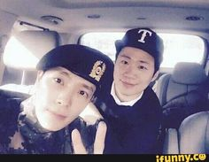Found on iFunny Super Junior, Lee Hyuk, Dong Hae, Lee Donghae, Shinee, My Boys, Fun Facts, Captain Hat, My Children