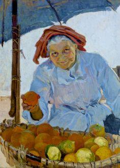 Orange seller (1929)  - Maria de Lourdes de Mello e Castro (1903 - 1996) Museu José Malhoa, Caldas da Rainha, Portugal