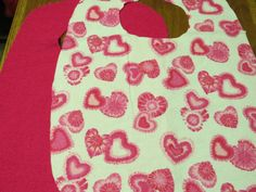 Special Needs Adult Bib. Absorbable Adult Bib. Crumb Catcher bib. Pink Hearts Valentines Day Adult bib. Choice Snaps or Velcro by NammersCrafts on Etsy