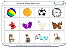 Fichas de razonamiento para niños para Educación Infantil Speech Language Pathology, Speech And Language, Familia Y Cole, Hidden Pictures, Preschool Education, Thinking Skills, Activities For Kids, Playing Cards, Math