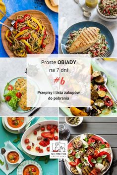 Proste obiady na 7 dni # 6 - Przepisy i lista zakupów do pobrania! Superfood, Meal Planning, Dinner Recipes, Lunch Box, Health Fitness, Food And Drink, Healthy Eating, Menu, Healthy Recipes