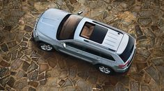 Jeep® Grand Cherokee Overland Summit with standard dual paned, CommandView® sunroof.