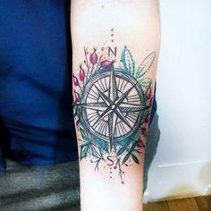 Floral compass piece