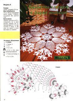 "Photo from album ""Салфетки on Yandex. Crochet Art, Thread Crochet, Filet Crochet, Crochet Motif, Crochet Shawl, Crochet Doilies, Crochet Patterns, Pineapple Crochet, Pineapple Pattern"