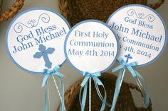 Personalized Center Pieces Communion Baptism by treelittlebirdz, $15.00
