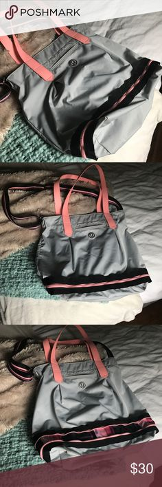 Lululemon Bag Loved this bag ! The bottom unzips to expand. The is front pocket and also an inside pocket.  17 W 16.5 H 10 D lululemon athletica Bags