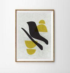 Retro poster Geometric Art Mid century art minimalist by Fybur