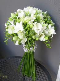 Wedding bouquet freesias