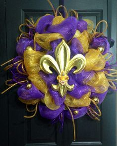 A personal favorite from my Etsy shop https://www.etsy.com/listing/162970388/lsu-wreath