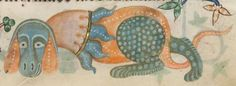 Detail from The Luttrell Psalter, British Library Add MS 42130 (medieval manuscript,1325-1340), f189r