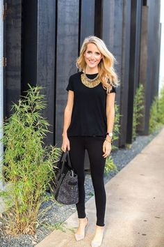 Inspiration look Day to night : black simple day to night look