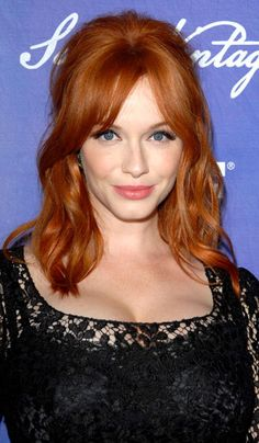 We can't help swooning over Christina Hendricks' vibrant, Intense Copper haircolor! Get your own most flattering #hair #color to cover #grays right at home here: www.eSalon.com