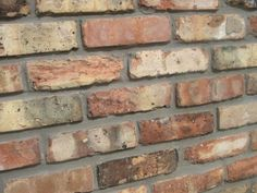 Chicago Antique Thin Brick Veneer Tile - perfect to fake a brick wall with thin pieces of real brick