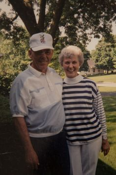 My mother and father sharing a laugh in the front yard. There was always something to laugh about!