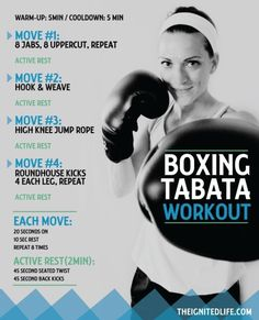 Boxing Tabata you can do at home!