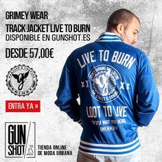 Track Jacket Grimey Live to burn    http://gunshot.es/grimey-live-to-burn-track-jacket-blue