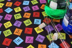 Periodic Elements (Dark) Kona Cotton Fat Quarter. $8.00, via Etsy.
