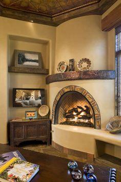 Family room with Kiva Firep and