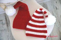 Babymütze, Weihnachtsmütze, süsse Nikolausmütze von BABYGLUCK auf DaWanda.com