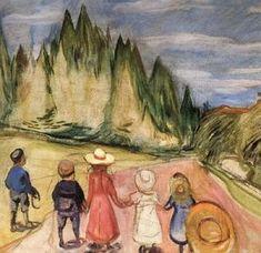 Eventyrskogen, omkring - (Edvard Munch)