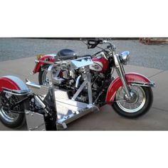1959 Harley Motorcycle with Custom Wheelchair Sidecar Platform