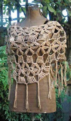 Floral Mini Poncho Crochet Pattern