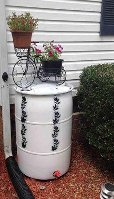 DIY Rain Barrel from one of those blue plastic barrels.. Hometalk :: Rain Barrel