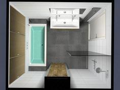 Badkamer idee voor kleine badkamer > toilet ontbreekt!!!