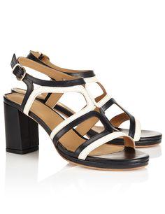 Monochrome Leather Clarisse Sandals   A.P.C.   Avenue32