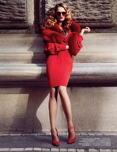Vogue Turkey, September 2010 - red dress