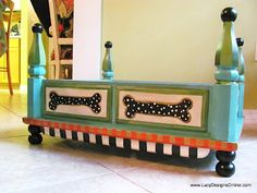 Dog Bed from an End Table - Great idea!