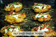 Bobbi's Kozy Kitchen - Fully Loaded Crash Hot Potatoes