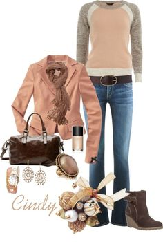 Love the booties, sweater belt and jeans