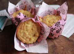 Carrot Cake Muffins:  full of carrots, ginger (fresh and candied), spice and pineapple to give you a bright start to any day.