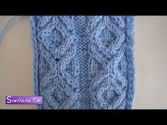 Ромбы. Вязание спицами - YouTube