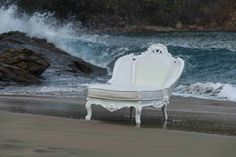 643DS-BO/MPW Chaise Lounge (Snow White/ Marine Pure White)