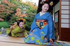 舞妓さんのお着物と庭園は共に日本の誇る美です #Japan #kyoto