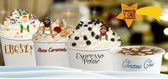 Acompaña es placentera velada con deliciosas bebidas: Frosty, Reno Caramelo, Espresso Polar, Christmas Chai.